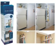 Mop and broom storage...