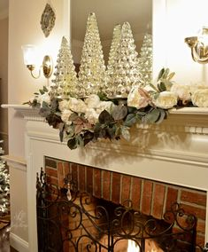 Lovely Livings Christmas 2017 White Christmas Ornaments, Simple Christmas, Christmas Decorations, Christmas Tree, Holiday Decor, Fraser Fir, Christmas Living Rooms, Fir Tree, Christmas 2017