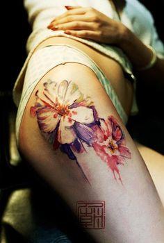 Подборка акварельных татуировок от Татуинка. Акварельные татуировки на любые части тела: как мужские, так и женские в лучшем качестве