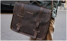 DARK COFFEE large computer case - Leather briefcase messenger bag - Brown leather computer bag - Men's Bag - Leather satchel men by OplichLeatherGoods on Etsy Cowhide Leather, Leather Men, Brown Leather, Leather Jackets, Pink Leather, Vintage Leather, Leather Briefcase, Leather Satchel, Men's Briefcase