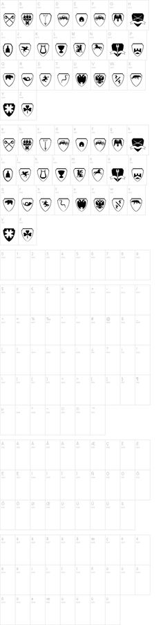 Dingbats - Easy Heraldics Font | dafont.com