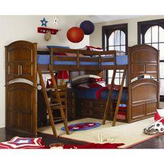 Magnificent V-Shaped Corner Kid Bunk Bed