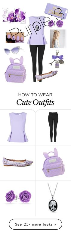 """Purple outfit"" by unicorn-donut on Polyvore featuring Topshop, Diane Von Furstenberg, Steve Madden, Ladurée, Bling Jewelry, Mykita, Kate Spade and cutekawaii"