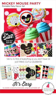 Mickey Mouse Birthday Mickey Mouse Party by AmandasPartiesToGo