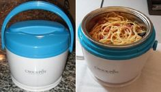 Ditch the Company Microwave with a Crock-Pot Food Warmer | Cubicle Bliss | CubicleBliss.com | If you always hated waiting in line in the office cafeteria for a microwave, this Crock-Pot food warmer will make your working day!  It's inexpensive and heats up your leftovers or anything you need heated up so that you can eat it right at your desk.  If you want to bring it into the cafeteria you can carry it in using the convenient handle.