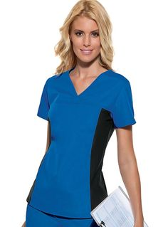 Buy Cherokee Flexibles Womens Two Pocket V-Neck Nurses Scrub Top for $24.98