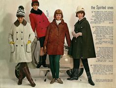 Coats. Looks like car coats in the middle. Retrospace: Catalogs #13: That 60s Style