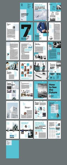 Modern and creative Corporate Brochure InDesign template. Could also be used as … Modern and creative Corporate Brochure InDesign template. Brochure Indesign, Template Brochure, Indesign Templates, Brochure Layout, Flyer Layout, Booklet Layout, Booklet Template, Report Template, Magazine Layout Design