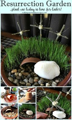 A fun and easy DIY project for your Easter decorating is this Resurrection Garden from Walking on Sunshine.