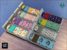Arte Della Vita: Set with beddings for boys and girls • Sims 4 Downloads
