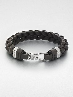 Tod's - Braided Leather Bracelet - Saks.com $225