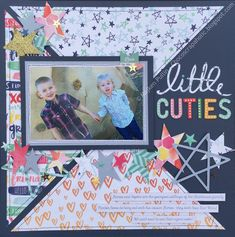 {Little Cuties} @americancrafts Better Together with @CSsketches April sketch. #stars #scrapbooking #sketch