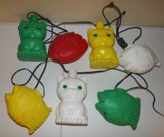 Noma Patio Party Lites CATS FISH RV Blow Mold String Lights