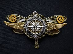 Fantasy Steampunk Explorer Aviator Gold by KindHeartsEmporium