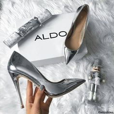 b26e7a3ca261 Silver Pumps, Silver Shoes Heels, Stiletto Shoes, Silver Metallic Heels,  Zapatos Shoes