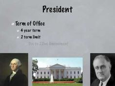 Video that describes the executive branch of government