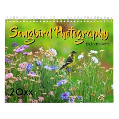 2019 Songbird Photography CalendarAnimal floral themed business cards and office supplies Wildlife Nature, Sphynx, Beautiful Birds, Gifts For Family, Calendar, Wrens, Robins, Business Cards, Floral