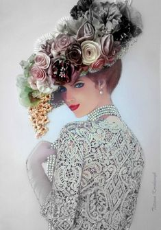 Sewing Ideas you should know! Silk Ribbon Embroidery, Embroidery Art, Ribbon Art, Victorian Women, Vintage Prints, Altered Art, Paper Dolls, Needlework, Vintage Ladies