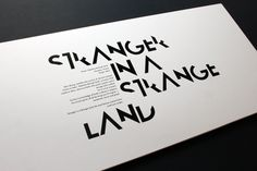 Typography by Brian Walker