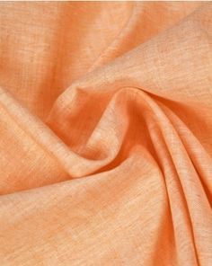 linen fabric in a fresh peach sorbet shade. This natural fabric is perfect for adding some lightweight classics to your summer capsule wardrobe. Peach Sorbet, Summer Shirts, Fabric Online, Linen Fabric, Aesthetic Pictures, Capsule Wardrobe, Pure Products, Fresh, Natural