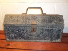 Vintage Toolbox Handmade Pop Rivet Sheet Metal Tool Box