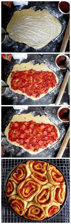 Pizza Buns Recipe (with link to Marinara Sauce Recipe)     by cookglee  #Buns #Pizza #Recipe