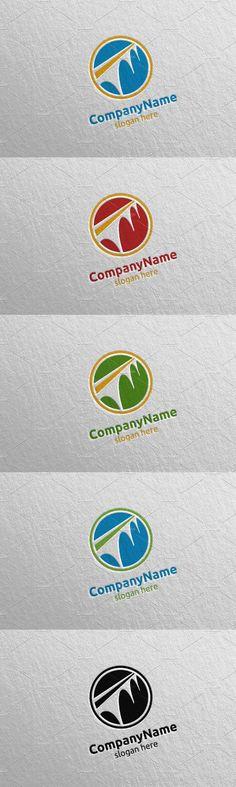 Bridge Logo, Construction Design, Concept Architecture, Vector Design, Slogan, Presentation, Conceptual Architecture