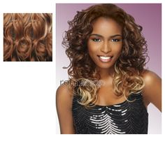 Instant Weave Toronto (2 in 1 Style) - Color DX2566 - Synthetic (Curling Iron Safe) 2 in 1 Reversible Half Wig