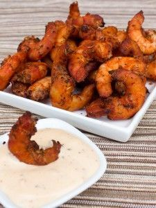 Great Southern Style Smoked Cajun Shrimp with Spicy Ranch Dip, ,