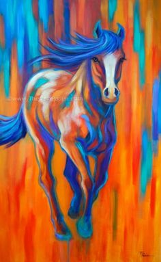 Racing the Sun - acrylic by ©Theresa Paden
