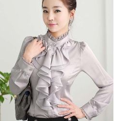 victorian blouse on sale at reasonable prices, buy 2018 New Ladies High Neck Frilly Womens Vintage Victorian Blouse Ruffle chiffon Top Shirt steampunk shirt from mobile site on Aliexpress Now! Ruffle Shirt, Chiffon Ruffle, Chiffon Tops, Lace Tops, Ruffle Trim, Ruffles, Cute Blouses, Shirt Blouses, Blouses For Women