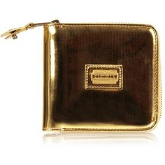McQ Alexander McQueen Metallic Razor Blade Zip Around Wallet | GarmentQuarter