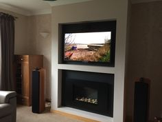 "FR600 : High Efficiency ""Hole in the Wall"" Ribbon Gas Fire. The fire is operated by a manual control which is hidden behind the fascia. This modern high efficiency gas has a ribbon of flame complemented by ceramic pebbles. The 3.6kW natural gas fire has a class1 efficiency rating which means that most of the heat generated is returned to the room, helping to reduce energy bills - cvo.co.uk"