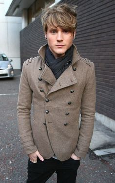 Is it wrong that I want the coat, scarf and hair on this dude? Maybe I don't dress like a girl, after all...