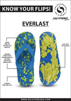Everlasting flip flops deliver quality, style, and comfort. Check out our new flipflops only on www.solethreads.com ‪