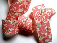 Bunny Balloons Cotton Ribbon Trim Pink 1 3/8 by PrimroseLaceRibbon, $3.00