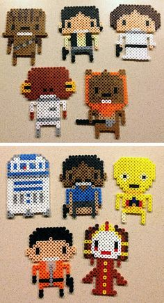 Star Wars Characters perler beads by LunasRealm Haha, haven't done these in forever...great May 4th party coasters
