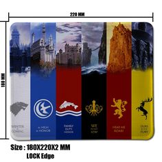Game of Throne Mouse Pad Computer Mousepad Winter is coming Large Gaming Mouse Mats To Mouse Gamer Anime Rectangular Mouse Pad