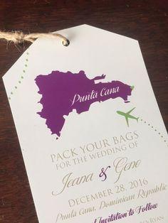 Como Hacer Save The Date Imantados O Magnéticos Para La Nevera ¡Fácil!  Destination Wedding InvitationsDestination ...