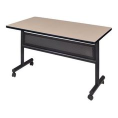Regency Kobe 48 inch Flip Top Mobile Training Table with Modesty, Multiple Colors, Assorted