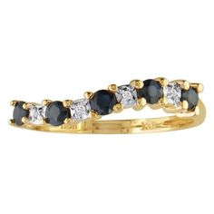 BUY NOW--> http://lepry.com/product/13ct-sapphire-journey-diamond-ring-in-10k-yellow-gold/