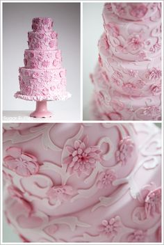 Pink Chanel Inspired Cake by Sugar Ruffles  |  TheCakeBlog.com