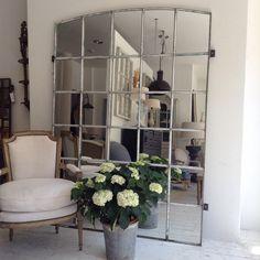 XXL Industrial window mirror,great in garden design or inside