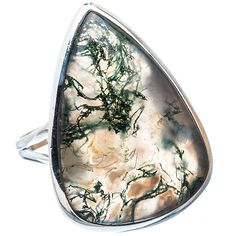 Beautiful Large Moss Agate Ring by edolena, $28.00
