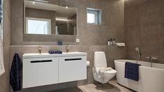 Villa Sandhamn – Charmig i marin stil Bathroom Wall, Room Interior, Double Vanity, Villa, Mirror, Furniture, Home Decor, Bathroom Designs, Bathroom Ideas