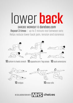 Instructions: Repeat each move one after the other with no rest in between until the set is done, rest up to 2 minutes and repeat the whole set again, 3 times in total. Hold the stretch for one deep breath and return to the starting position....