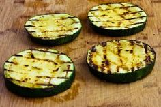 Grilled Zucchini Pizza Slices (Low-Carb, Gluten-Free) [from KalynsKitchen.com]