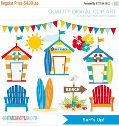 Hey, I found this really awesome Etsy listing at https://www.etsy.com/uk/listing/185667737/on-sale-clipart-surfing-surfs-up-beach