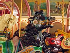 Carousel horses taken at Idlewild Park by photos for fun, via Flickr