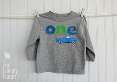 Little blue truck, boy's first birthday shirt, number shirt, boy's one shirt, two tee, truck birthday party, short or long sleeve Tshirt,3rd